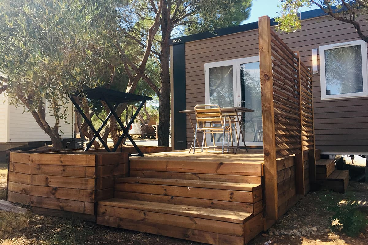Camping Aude - Camping Le Fun planche mobilhome